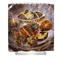 Shower Curtain featuring the photograph Amber by Andrey  Godyaykin