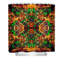 Amber Burst. Shower Curtain