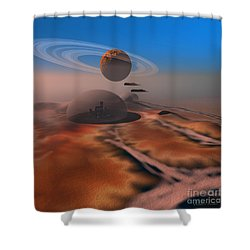 Amber Crest Shower Curtain by Corey Ford