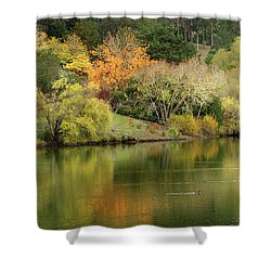 Amber Days Of Autumn Shower Curtain