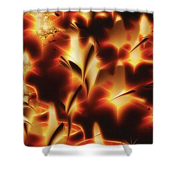 Shower Curtain featuring the digital art Amber Dreams by Paula Ayers