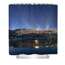 Amber Fort After Sunset Shower Curtain
