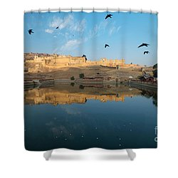 Shower Curtain featuring the photograph Amber Fort  by Yew Kwang