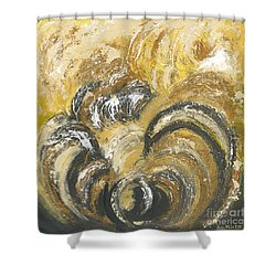 Amber Is The Color Of Your Energy Shower Curtain by Ania M Milo