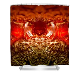 Amber Nightmare Shower Curtain