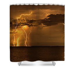 Amber Rain Shower Curtain