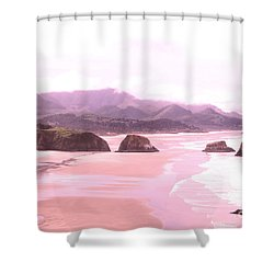 Amber Skies Shower Curtain