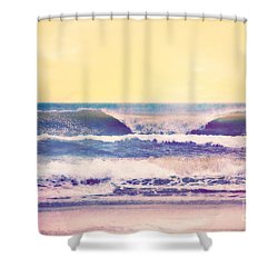 Shower Curtain featuring the photograph Amber Tides  by Kelly Nowak
