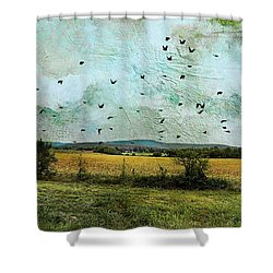 Amber Waves Of Grain Shower Curtain by Jan Amiss Photography