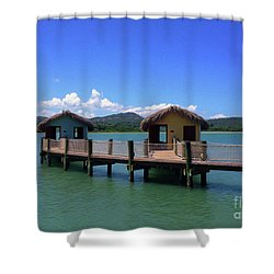 Amberhuts Shower Curtain
