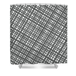 Shower Curtain featuring the digital art Ambient 36 by Bruce Stanfield