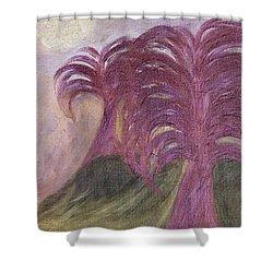 Ambient Moonlight Shower Curtain by Rachel Hannah