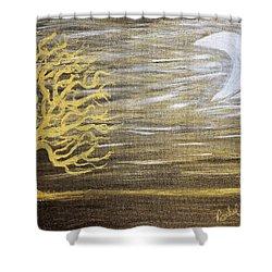 Ambient Night Shower Curtain by Rachel Hannah