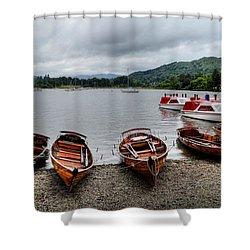 Ambleside Boats Shower Curtain