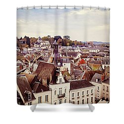 Shower Curtain featuring the photograph Amboise, France by Melanie Alexandra Price