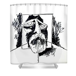 Ameeba 106- Old Man Shower Curtain