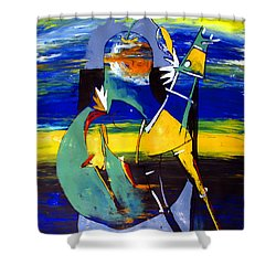 Ameeba 32- Horse And Pear Shower Curtain