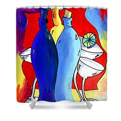 Ameeba 49- Bottles Shower Curtain