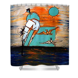 Ameeba- Horse 1 Shower Curtain