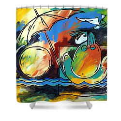 Ameeba- Woman On Beach Shower Curtain