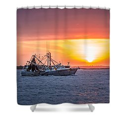 Amelia River Sunset 25 Shower Curtain