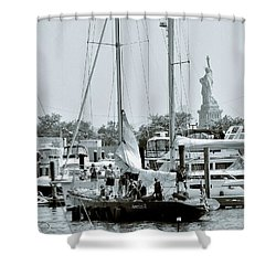 America II And The Statue Of Liberty Shower Curtain