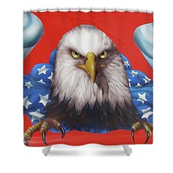 America Patriot  Shower Curtain