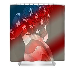 America Shower Curtain by Tbone Oliver