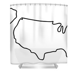 america USA map Shower Curtain by Lineamentum