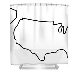 america USA map Shower Curtain