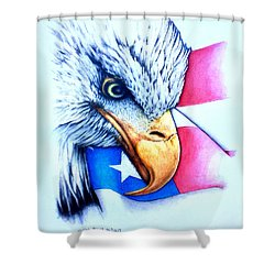 America Shower Curtain by Victor Minca
