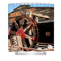America Water Wheel Shower Curtain by LeeAnn McLaneGoetz McLaneGoetzStudioLLCcom