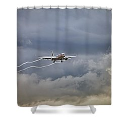 American Aircraft Landing Shower Curtain