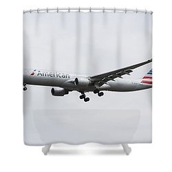 American Airlines Airbus A330 Shower Curtain