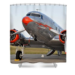 American Airlines Dc3 Shower Curtain by John Black