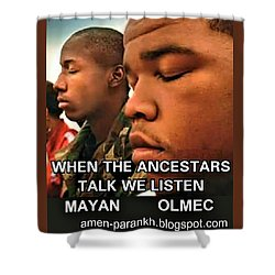 American Ancestars Shower Curtain