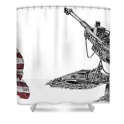 American Artillery Shower Curtain