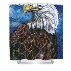 American Bald Eagle Shower Curtain by John Keaton