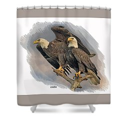 American Bald Eagle Pair Shower Curtain