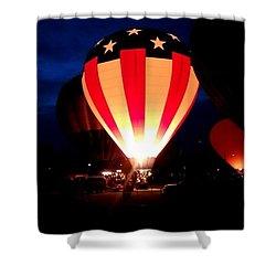 American Balloon Shower Curtain