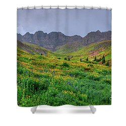 Shower Curtain featuring the photograph American Basin Summer Storm by Teri Atkins Brown