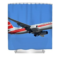 American Boeing 737-823 N915nn Phoenix Sky Harbor January 11 2015 Shower Curtain by Brian Lockett