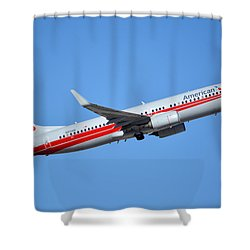 American Boeing 737-823 N915nn Retro Twa Phoenix Sky Harbor January 12 2015 Shower Curtain by Brian Lockett