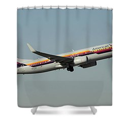 American Boeing 737-823 N917nn December 31 2015 Shower Curtain by Brian Lockett