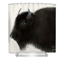 Shower Curtain featuring the painting American Buffalo by Bri B