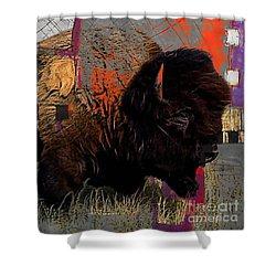 American Buffalo Collection Shower Curtain