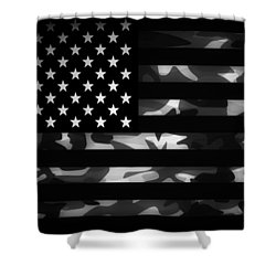 American Camouflage Shower Curtain