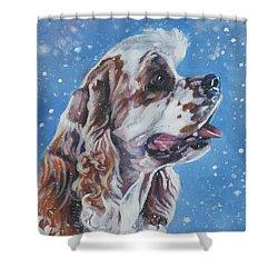 American Cocker Spaniel Shower Curtain by Lee Ann Shepard