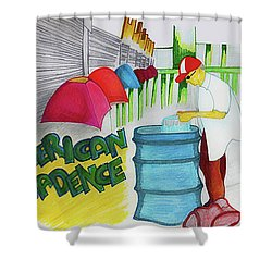 American Decadence Shower Curtain