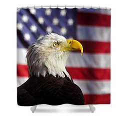 American Eagle Shower Curtain by David Lee Thompson
